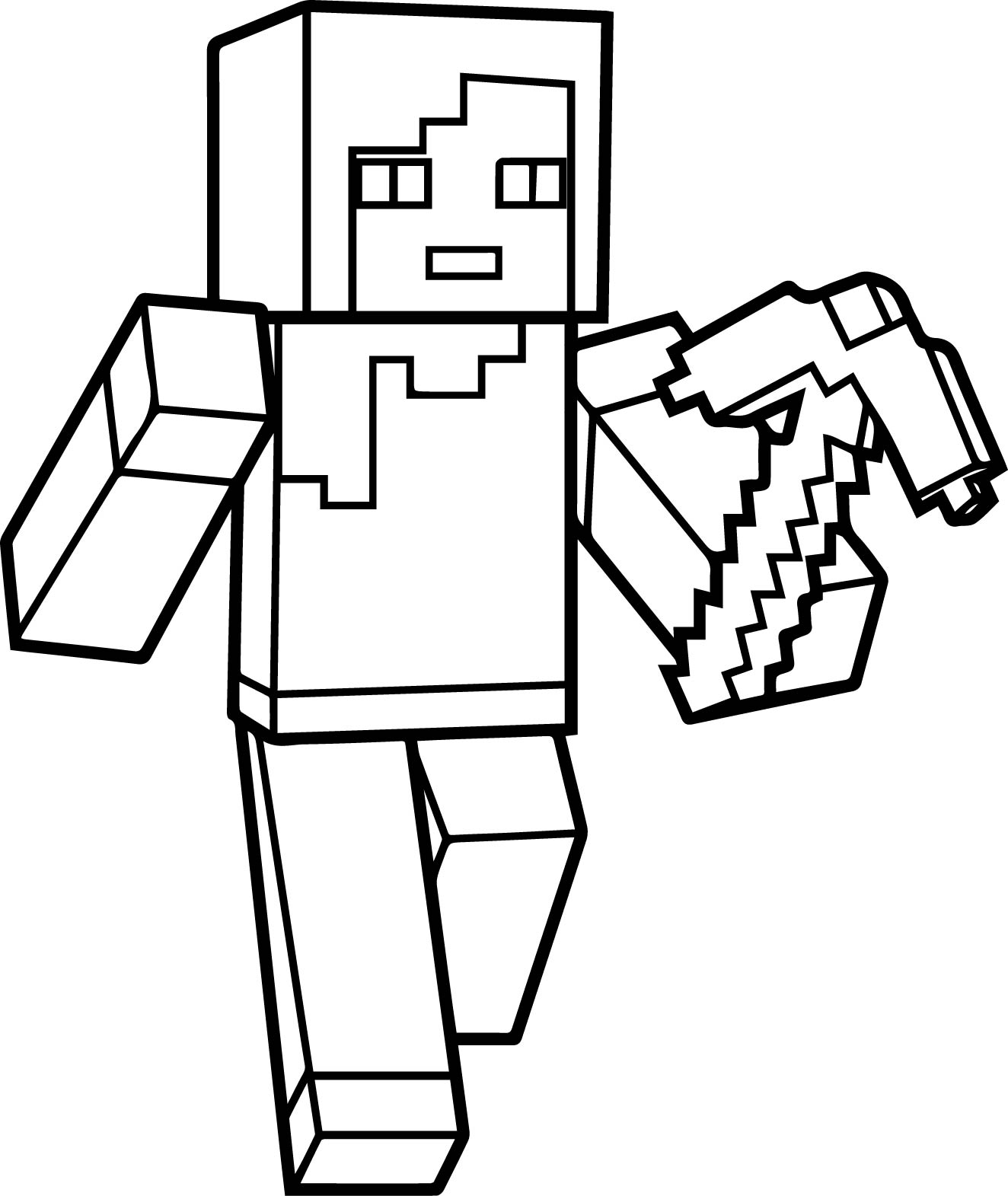 Раскраски для мальчиков Майнкрафт