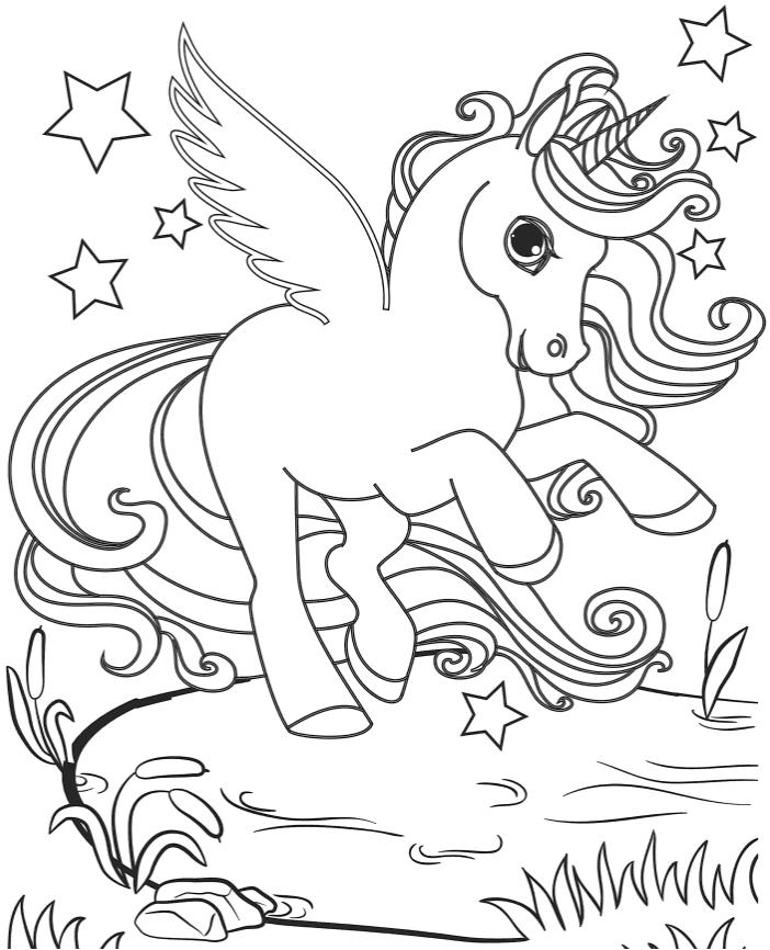 """""""Единорог"""" раскраски для детей. Скачать, распечатать ..."""