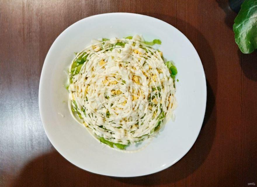 Крабовый салат с капустой, фото