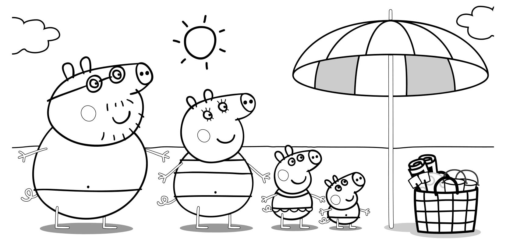 Свинка Пеппа раскраска, распечатать