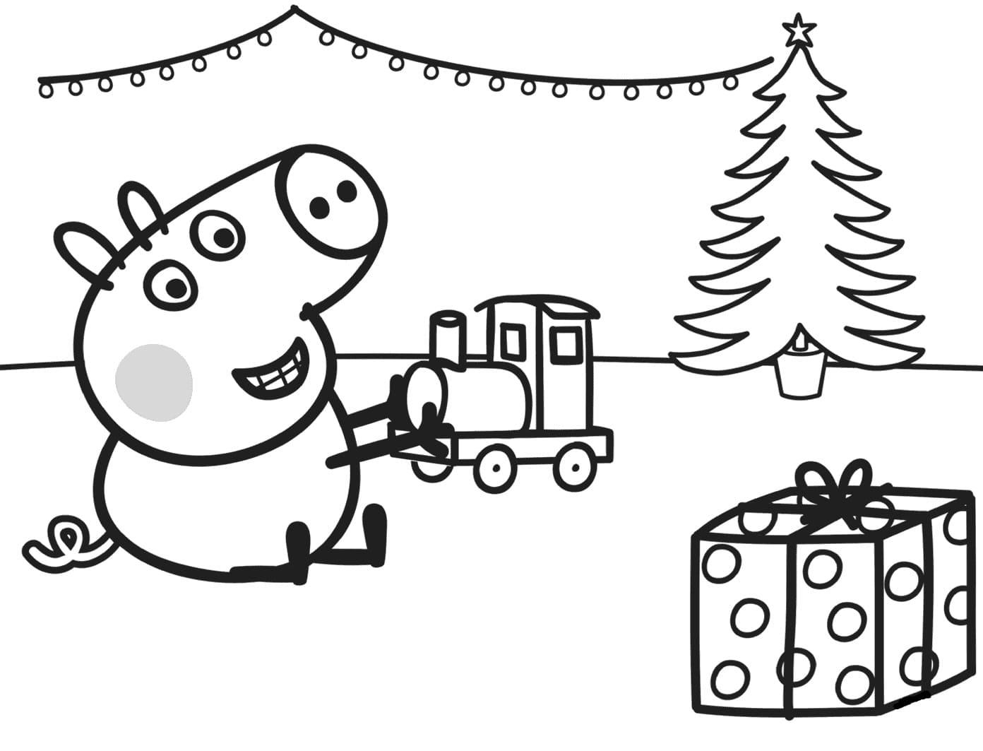 Бесплатные раскраски для детей свинка Пеппа