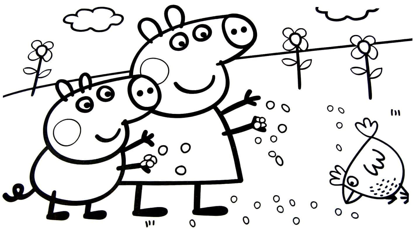 Раскраски свинки Пеппы для мальчиков и девочек