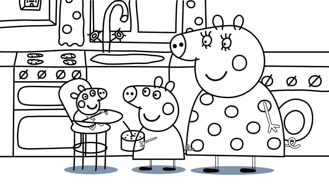 Распечатать раскраску свинка Пеппа для детей