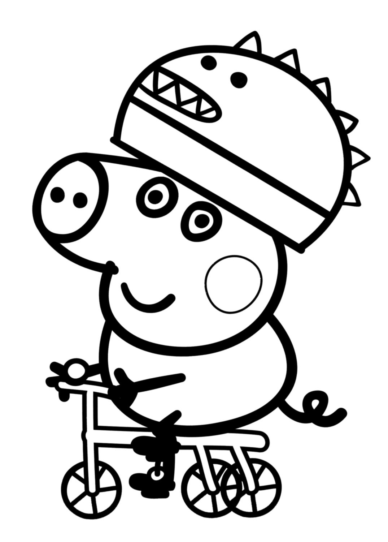 Свинка Пеппа раскраска для детей