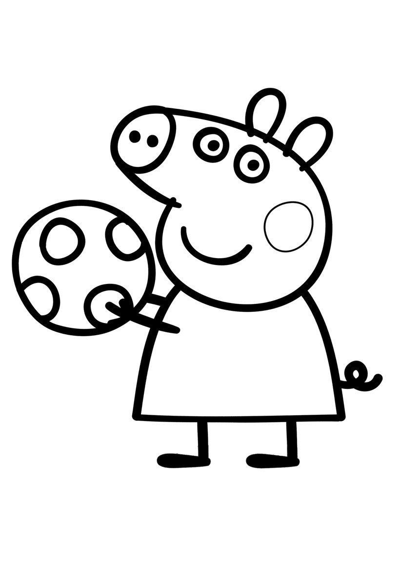 Свинка Пеппа раскраска для детей, распечатать