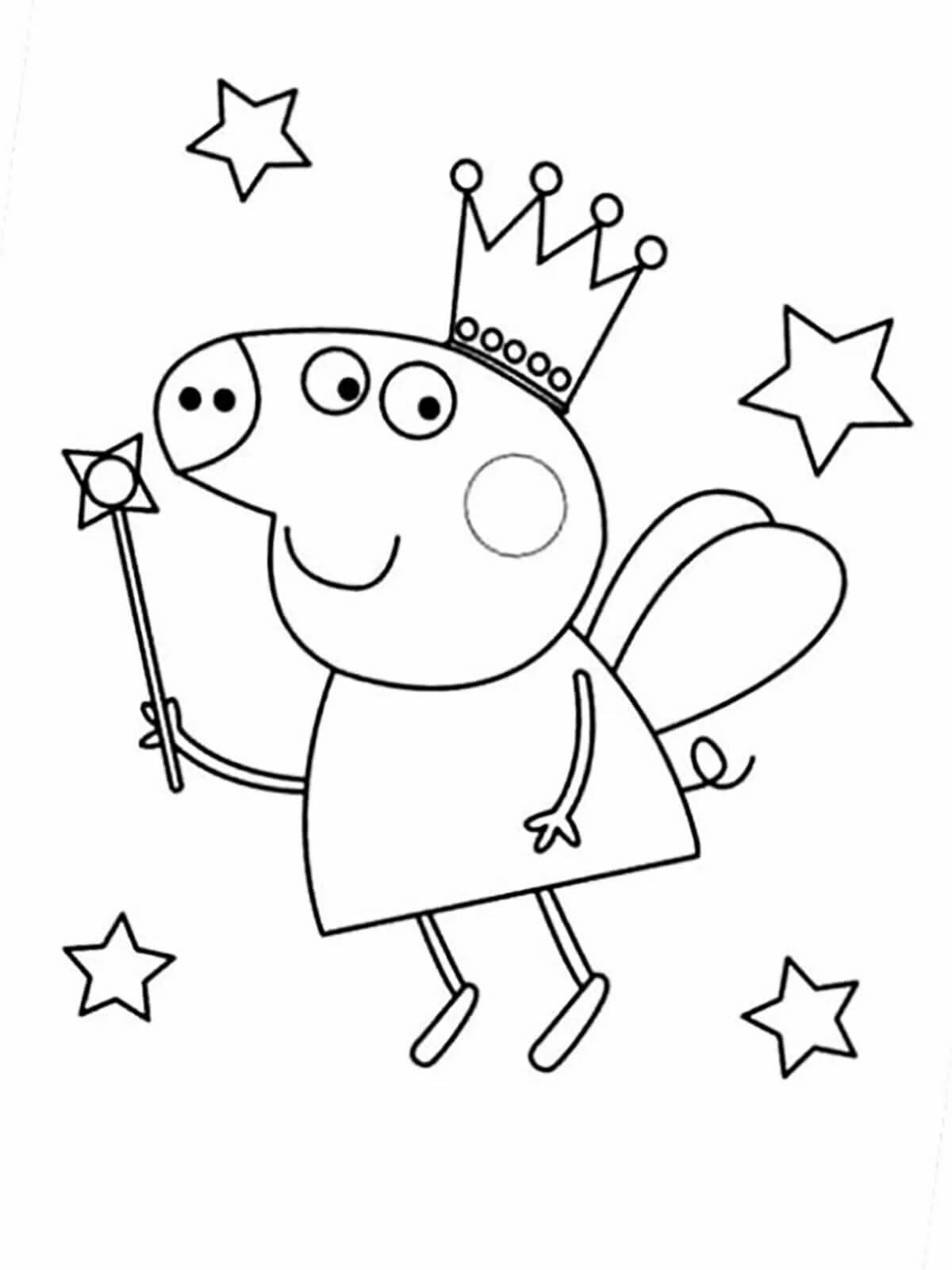 """""""Свинка Пеппа"""" раскраски для детей. Скачать, распечатать ..."""