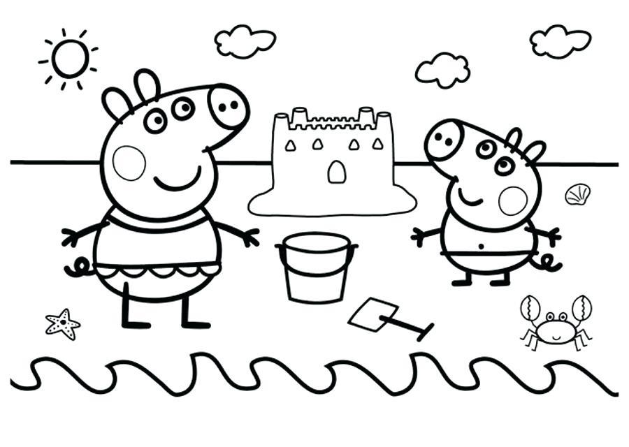 Раскраски свинки, распечатать