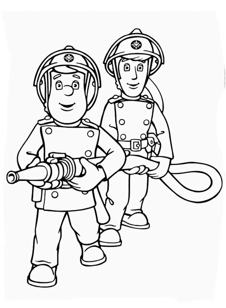 Пожарный раскраска распечатать