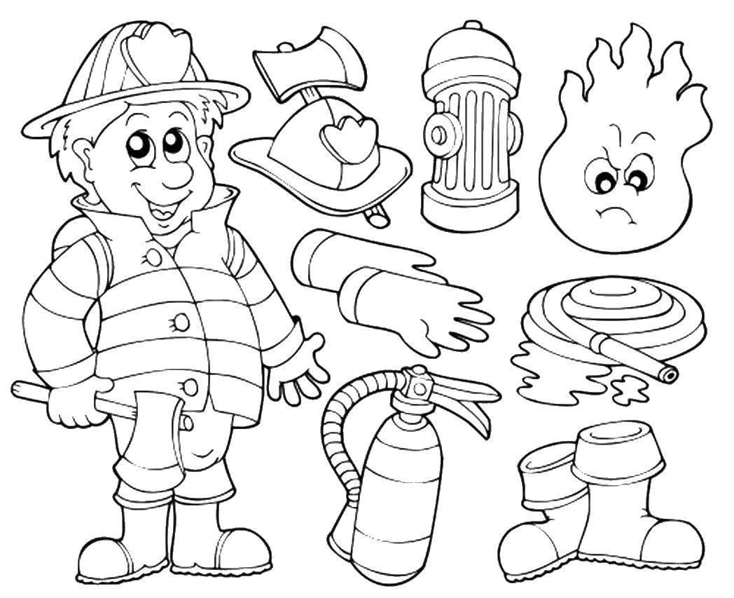 Раскраска пожарная безопасность