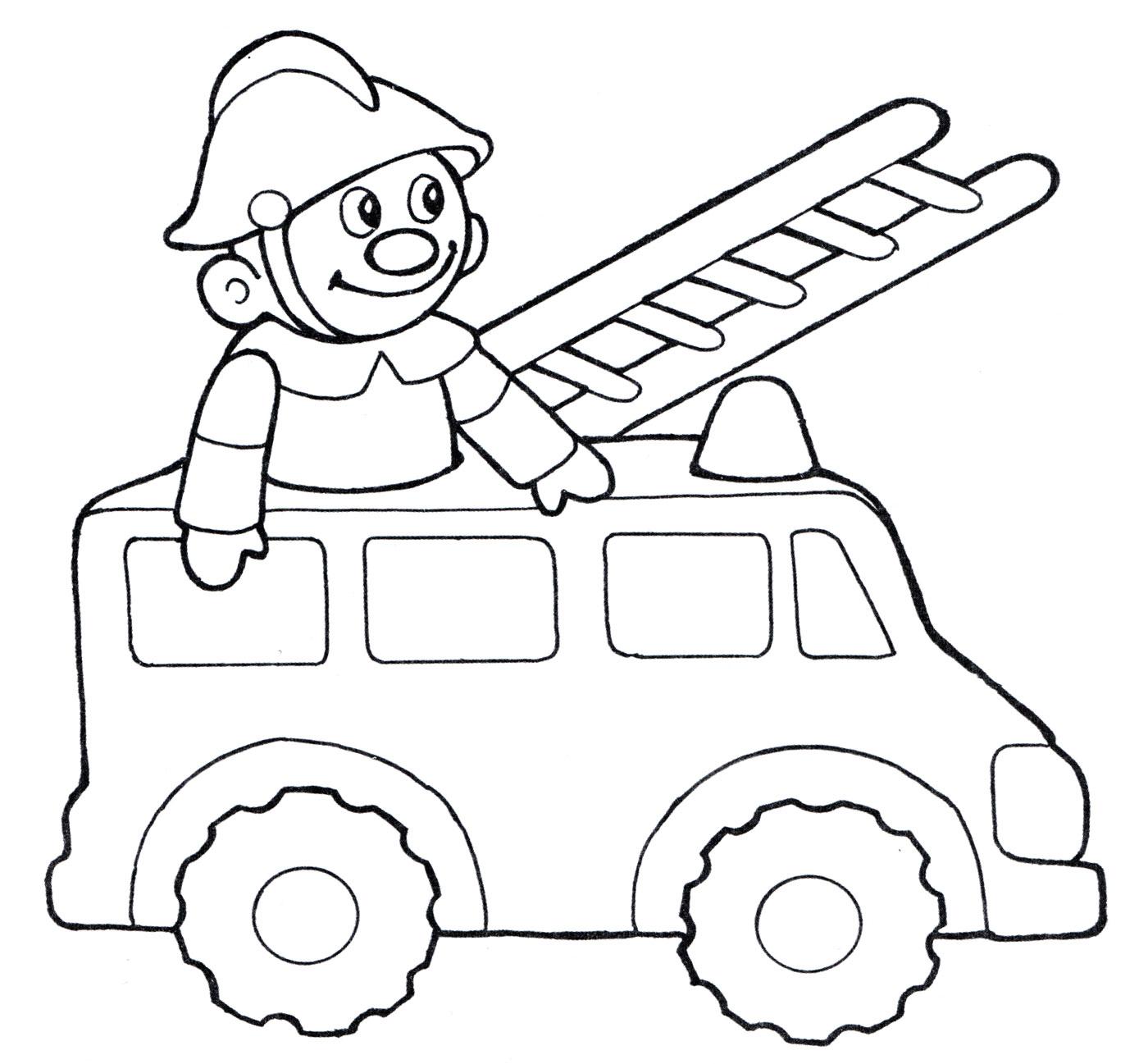"""""""Пожарный"""" раскраски для детей. Скачать, распечатать ..."""