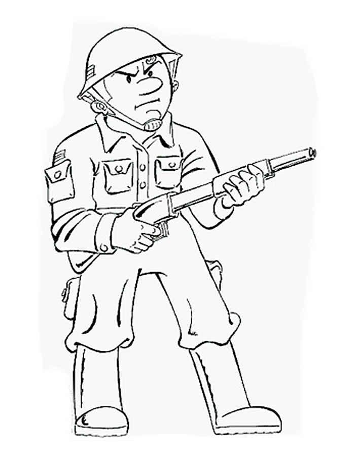 Раскраски для мальчиков солдаты