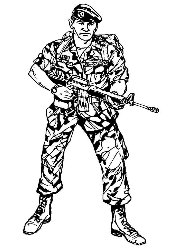 Скачать и распечатать раскраску для мальчиков - солдаты