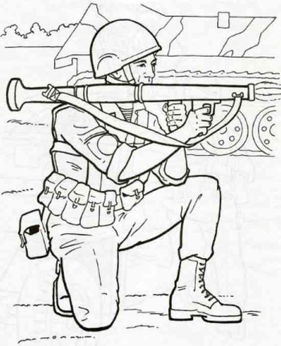 Солдат раскраска, для детей