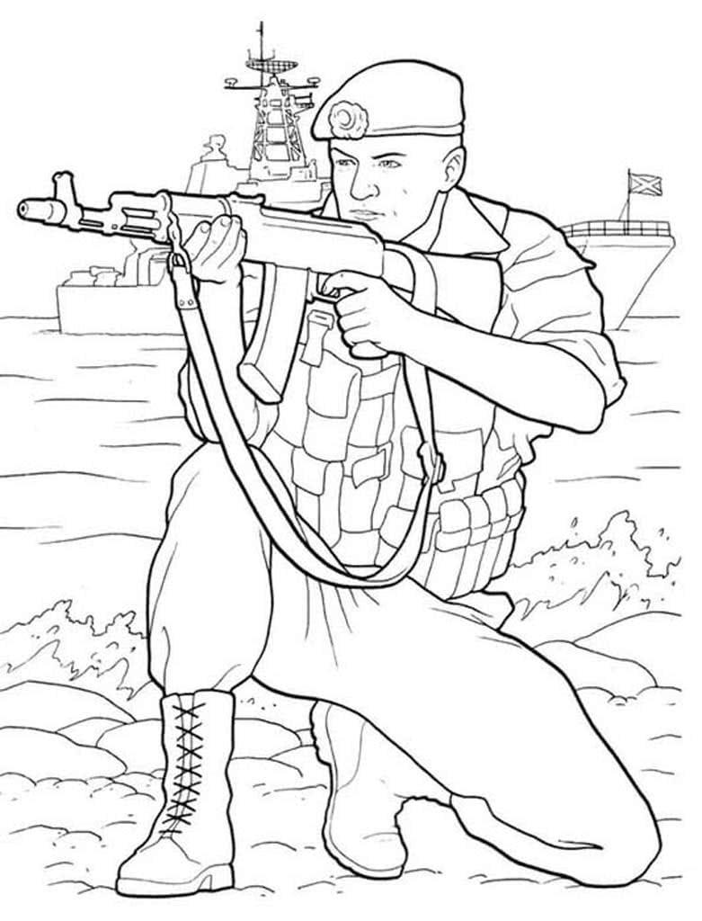 Солдат раскраски