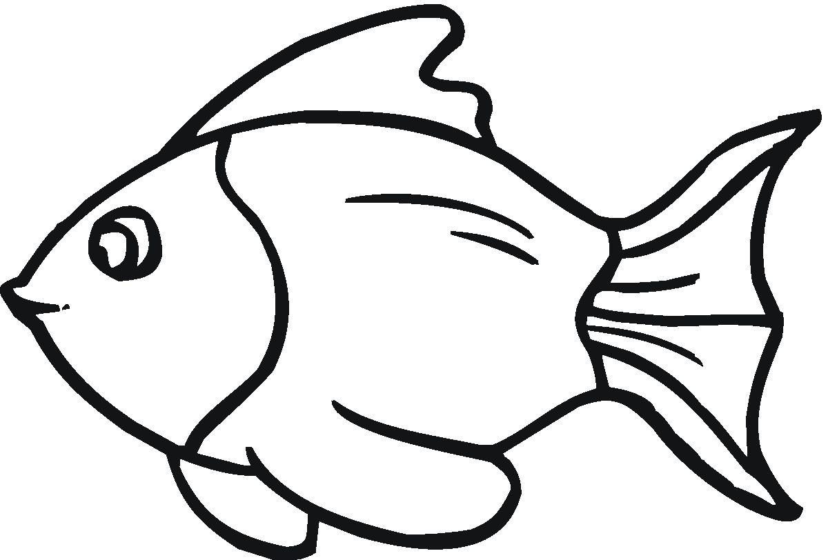 картинка рыбка распечатать