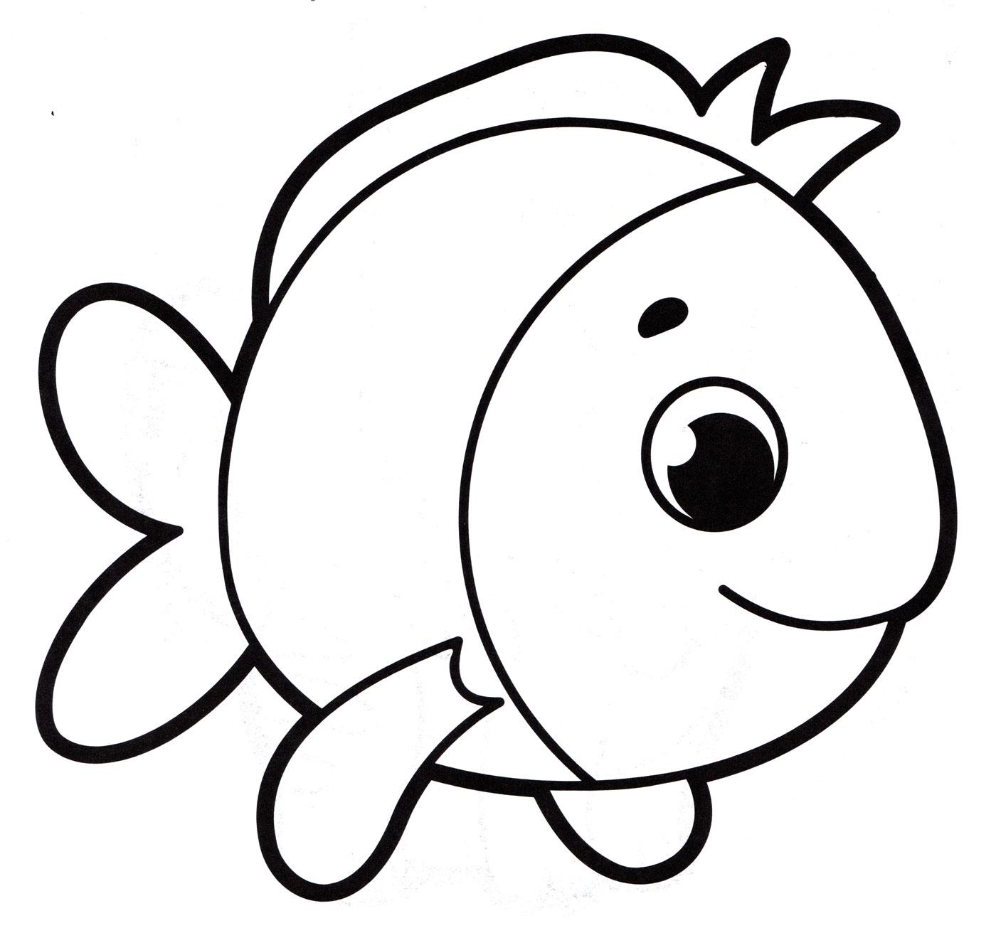 Раскраска рыбки для детей, распечатать