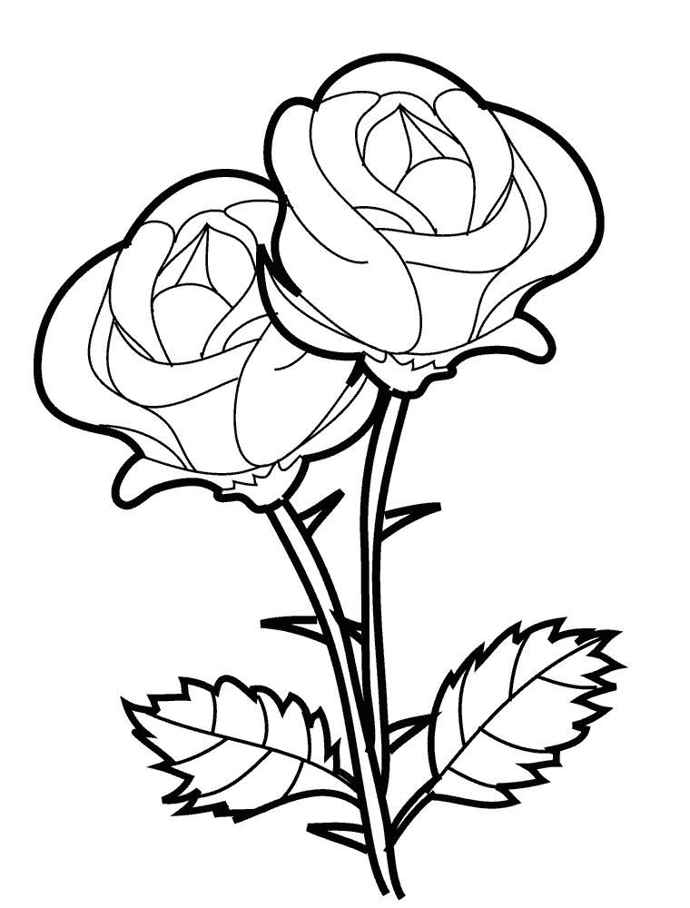 Распечатать раскраску для детей - цветы