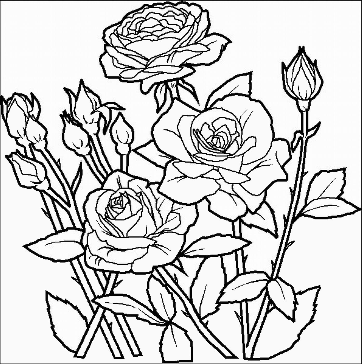 Раскраска для детей - цветы