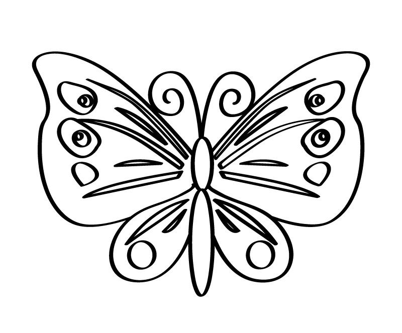 Распечатать раскраску бабочка онлайн бесплатно