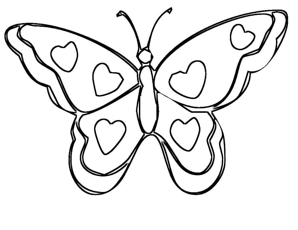 Картинка бабочка раскраска