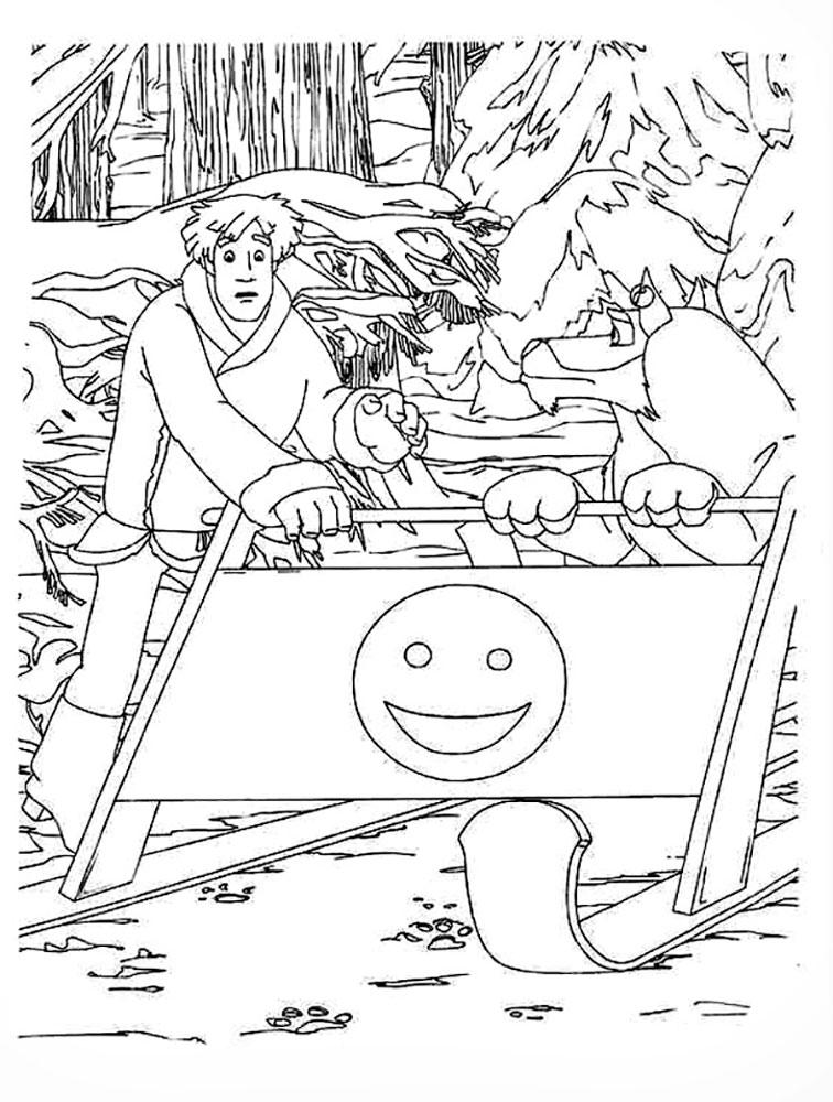Раскраска Иван Царевич и серый волк