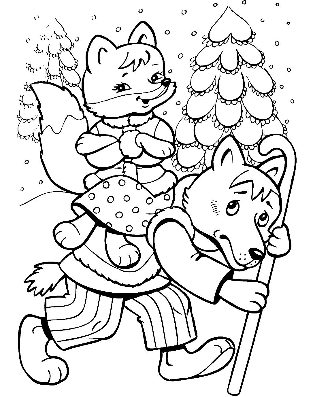 """""""Волк"""" раскраски для детей. Скачать, распечатать онлайн ..."""
