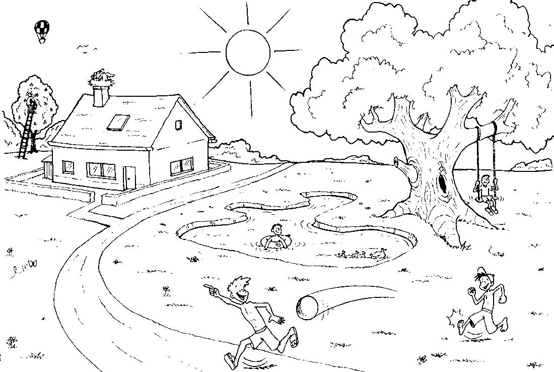 Раскраски для детей - природа