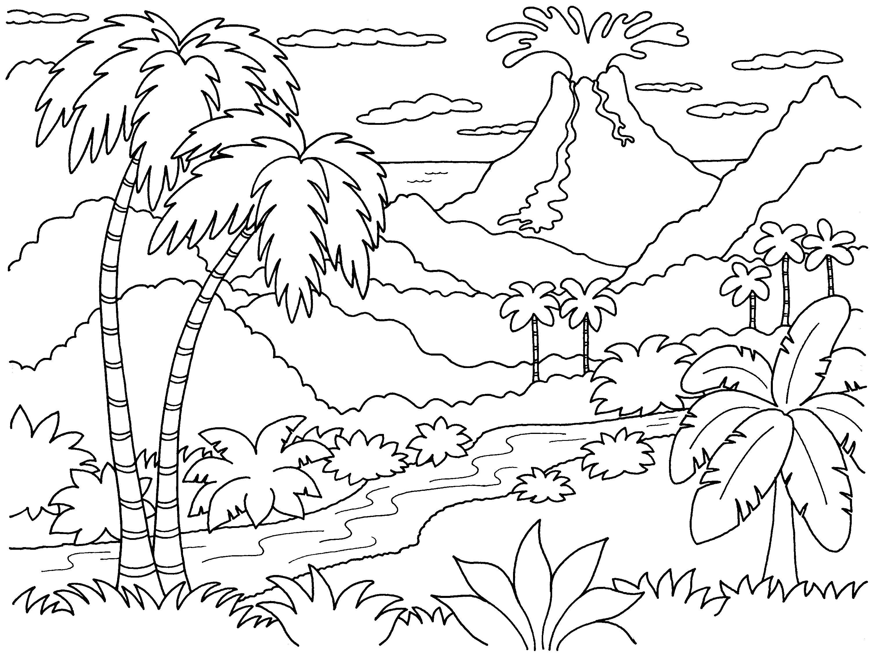 Раскраска природа, для детей