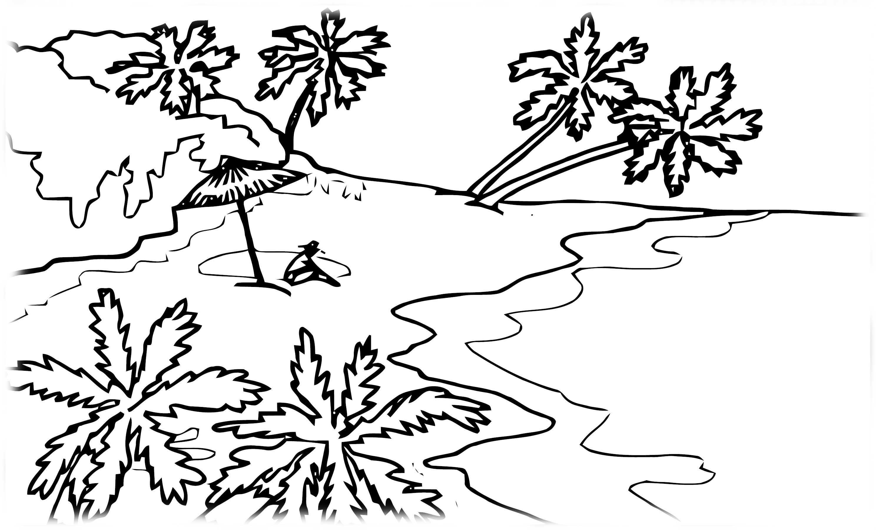 Скачать и распечатать раскраски для детей - природа