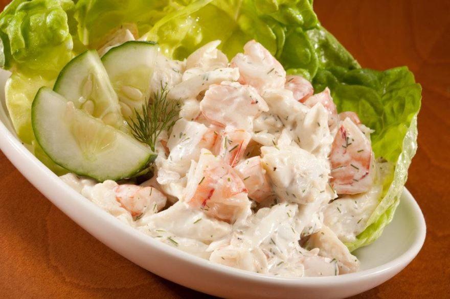 Крабовый салат с капустой, рецепт