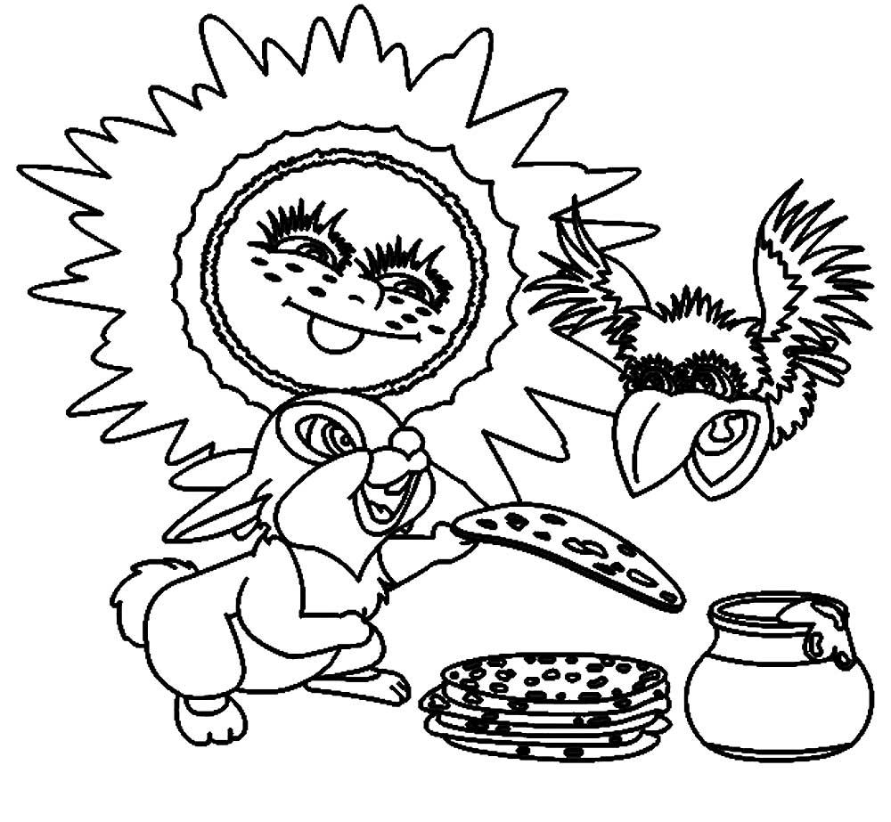 Масленица раскраска для детей