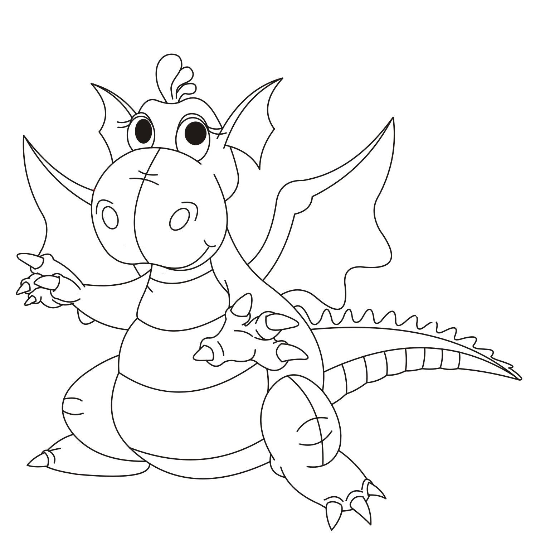 Бесплатные раскраски дракон