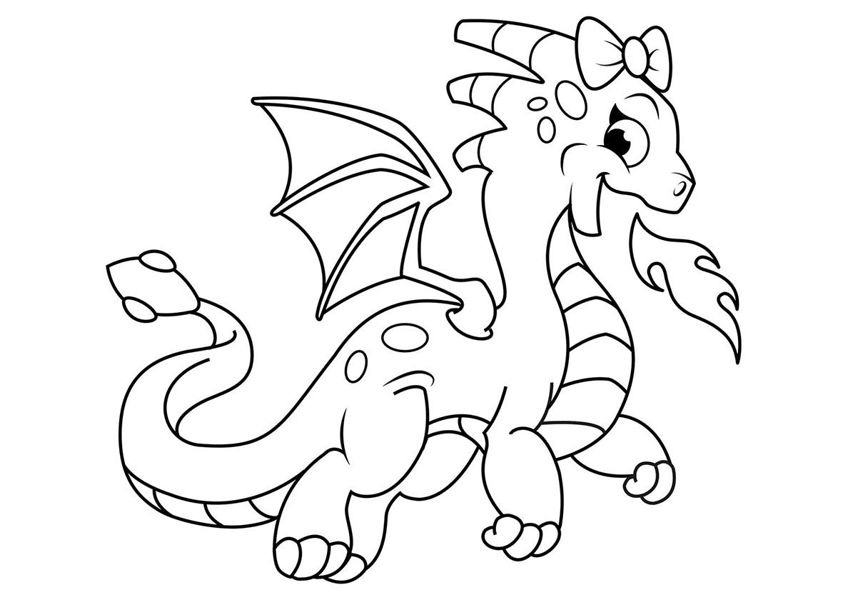 Раскраска драконы, распечатать бесплатно