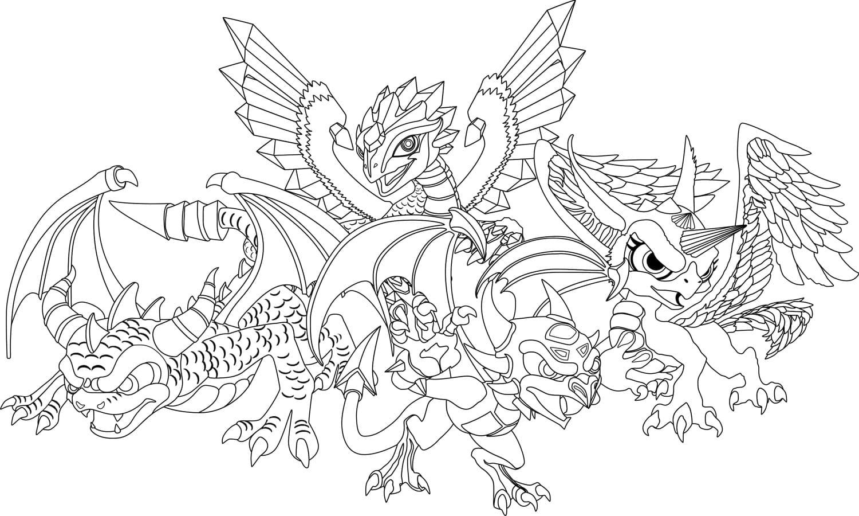 Распечатать раскраски драконы