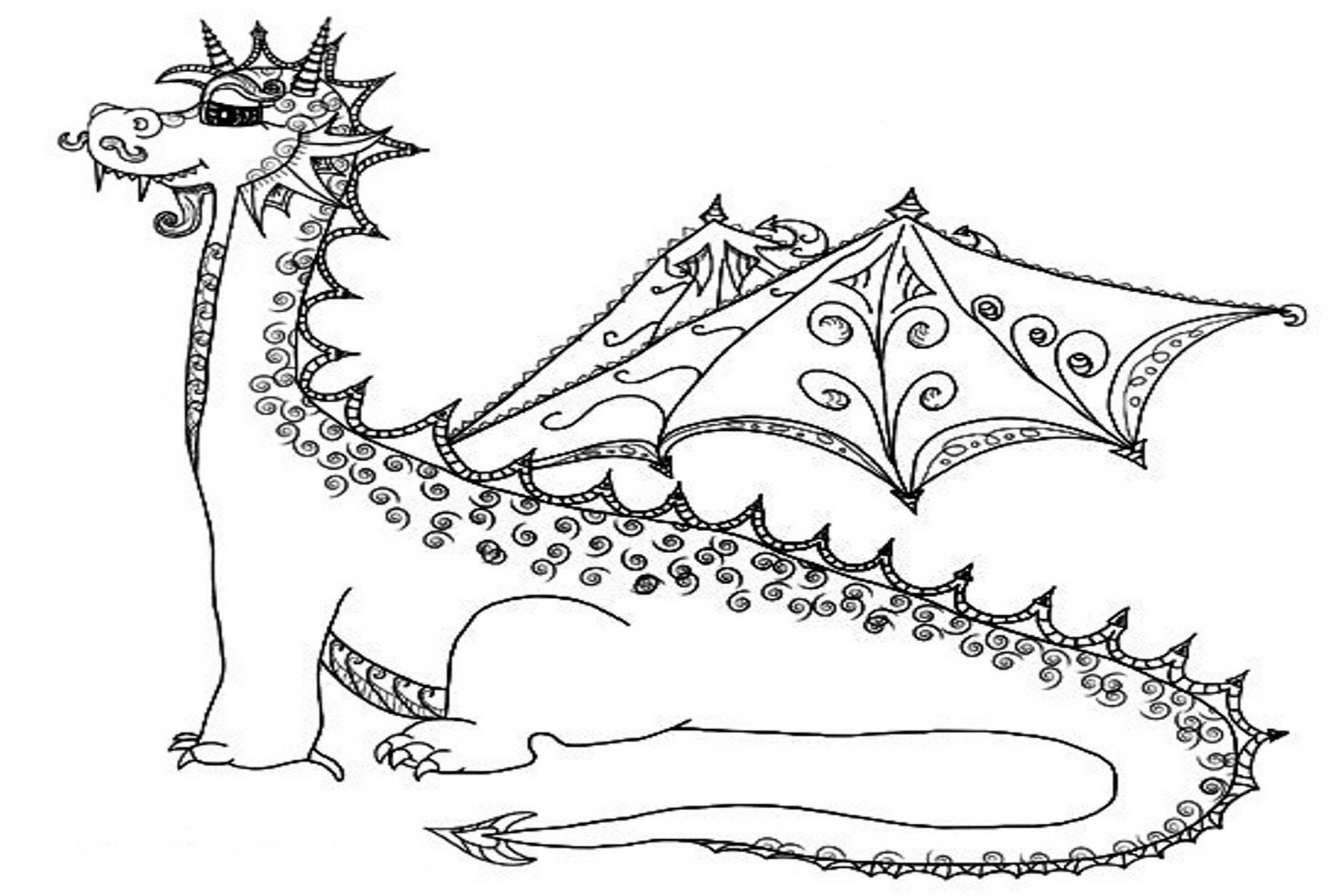 Раскраски для мальчиков - драконы