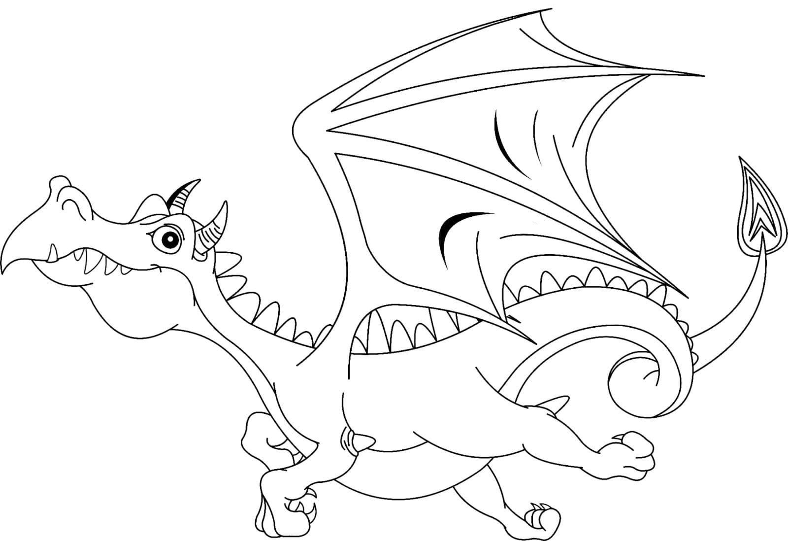 Раскраска дракон, распечатать бесплатно