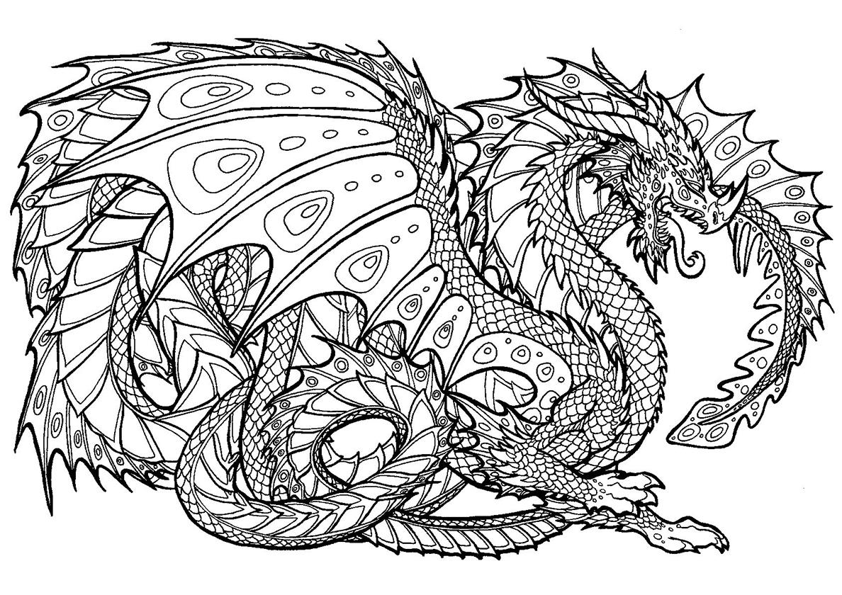 Бесплатные раскраски драконы