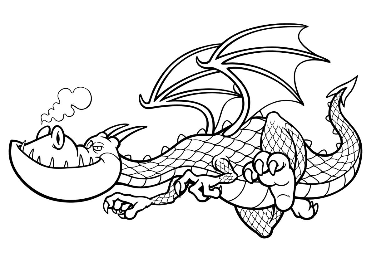 Детские раскраски дракон, бесплатно