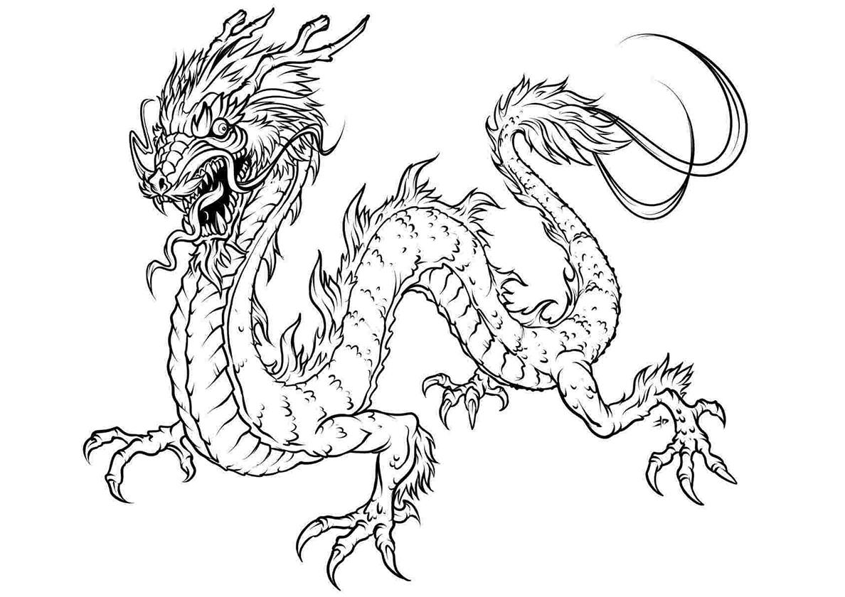 Скачать и распечатать раскраски дракон