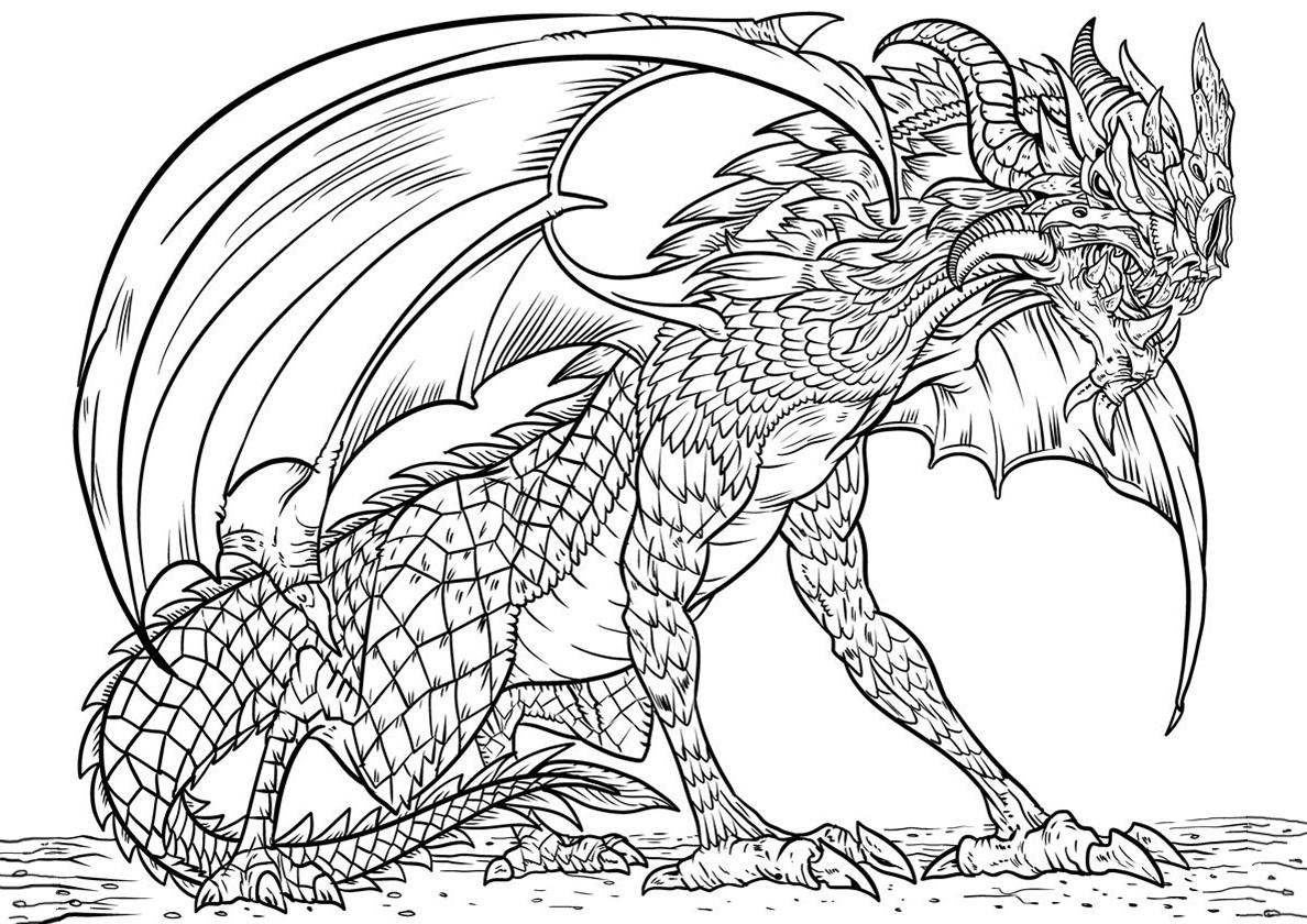 """""""Дракон"""" раскраски для детей. Скачать, распечатать онлайн ..."""