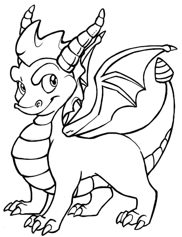 Раскраска как приручить дракона, распечатать