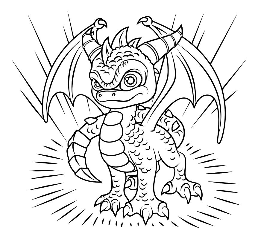 Распечатать раскраску дракон для мальчиков и девочек