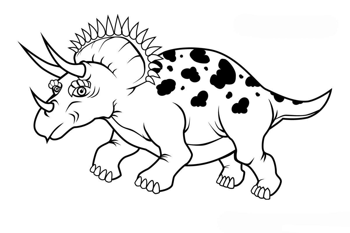 Динозавры раскраска для детей, распечатать