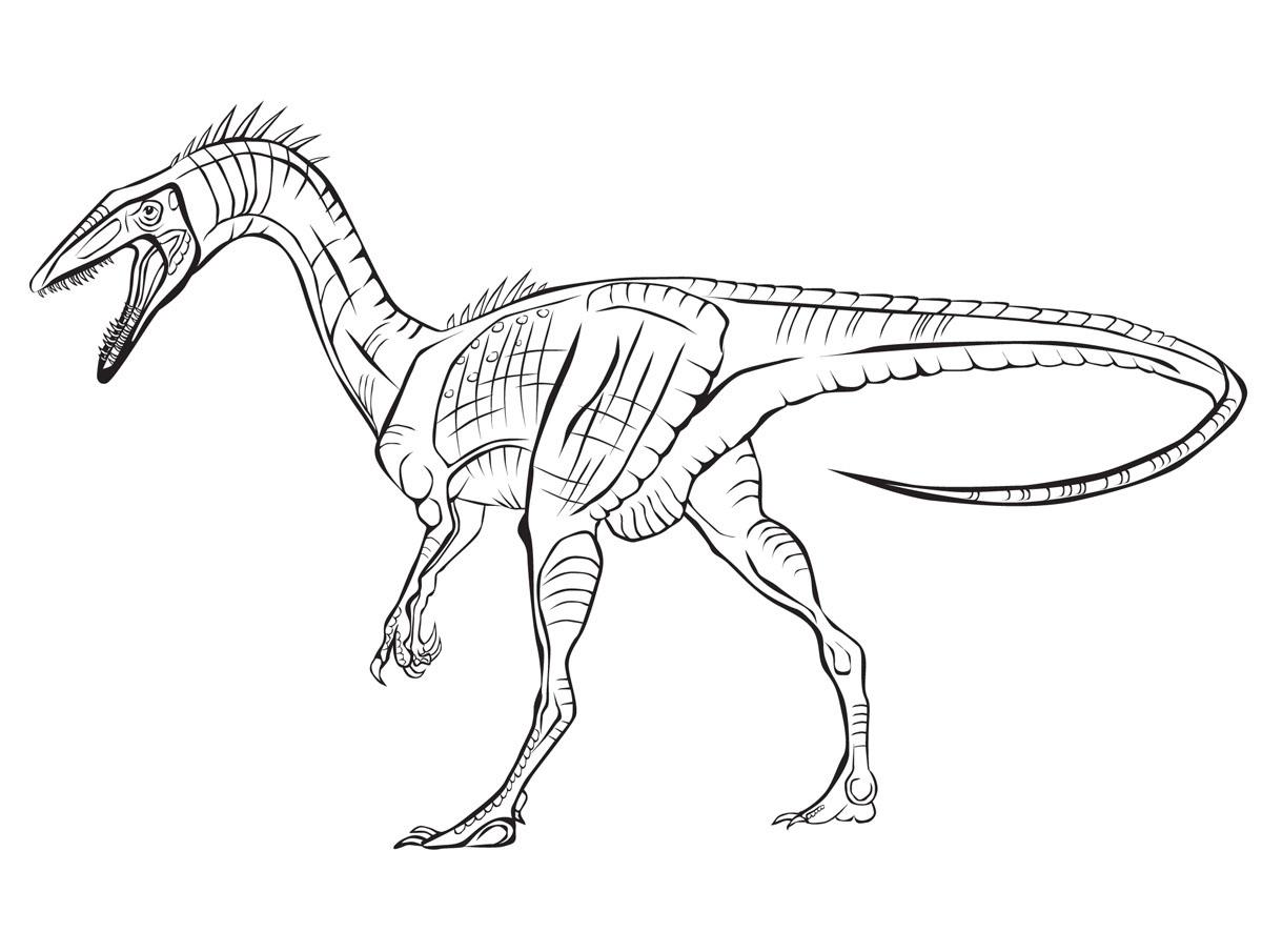 Раскраска динозавр, распечатать бесплатно