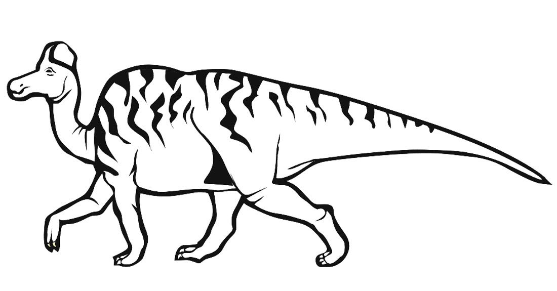 Скачать и распечатать раскраску про динозавра