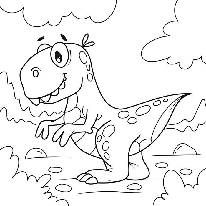 Раскраски динозавр для детей