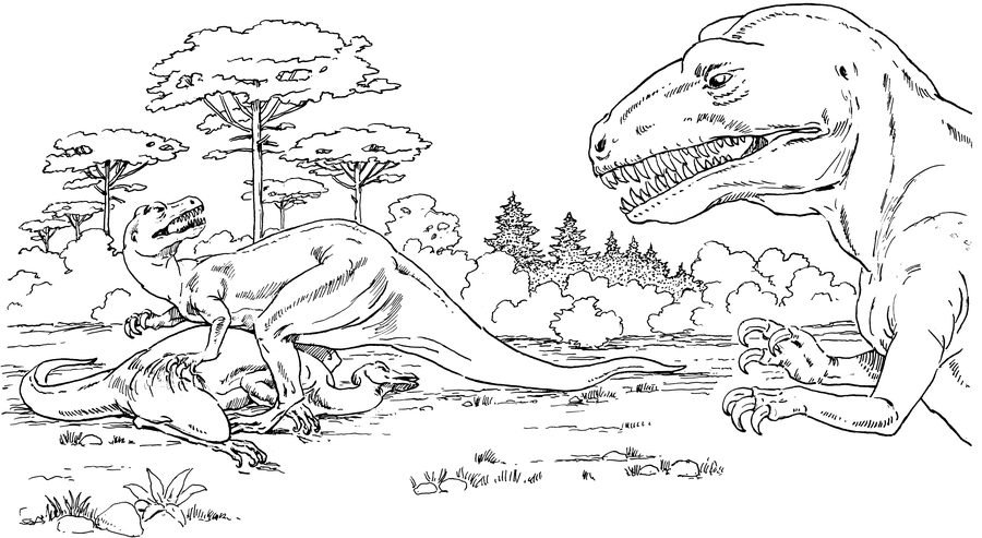 Распечатать раскраски про динозавров для детей, бесплатно