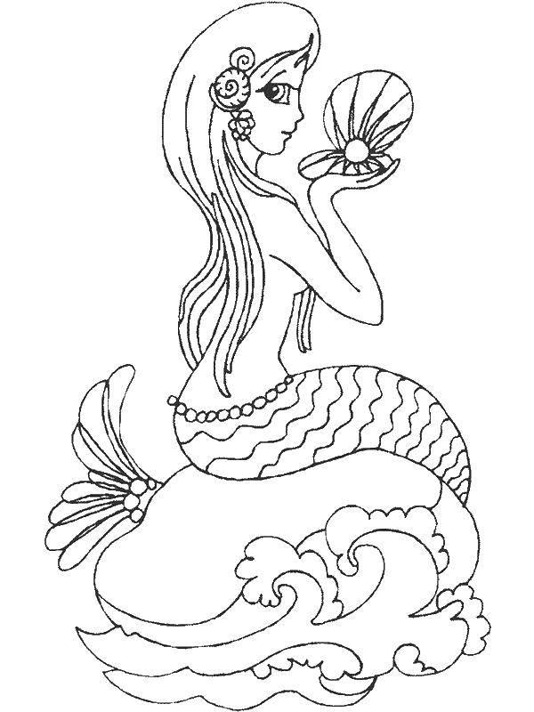 Раскраски для девочек русалки