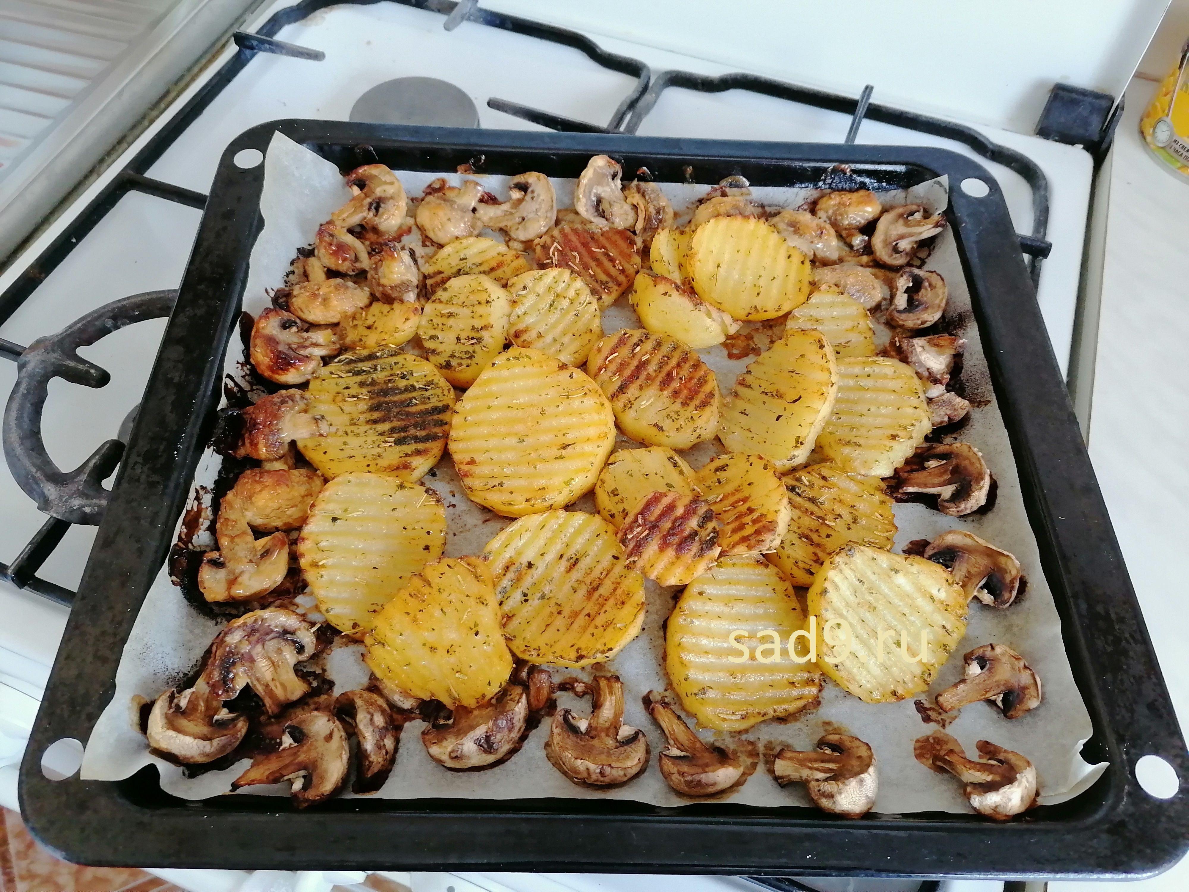 Приготовление картошки с грибами, фото