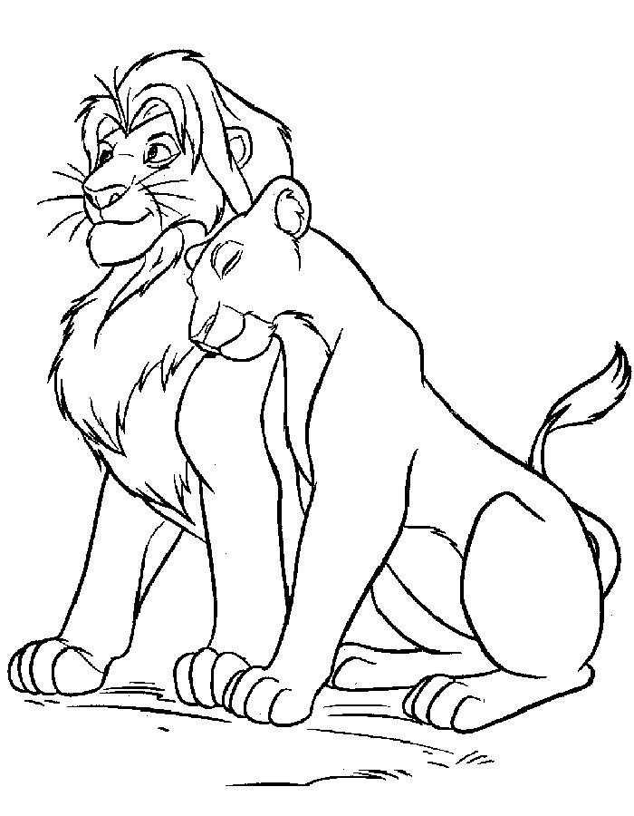 Король лев раскраска для детей